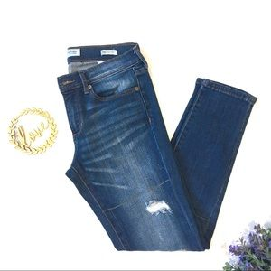 Banana Republic Skinny Ankle Distressed Jeans